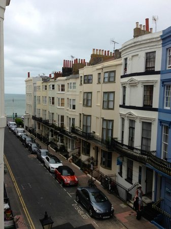 Grey's Hotel: View from room seven to the seafront