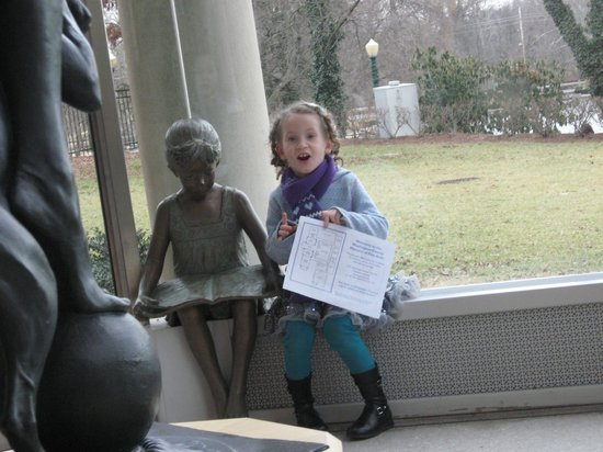 Washington County Museum of Fine Arts: my youngest daughter.