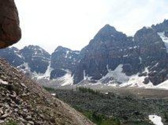 Great Divide Nature Interpretation: Some of the Ten Peaks.  We were so close, I couldn't get them all in one shot!  :)