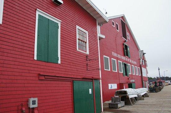 Fisheries Museum of the Atlantic: Außenansicht des Museums (Eintritt 10 Dollar - mit ADAC-Karte 10% Ermässigung!)
