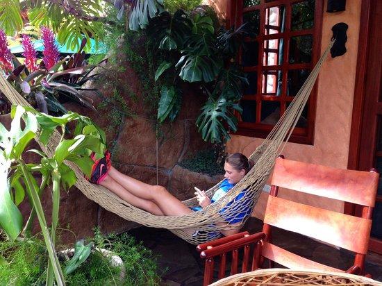 Peace Lodge: The hammock on the balcony