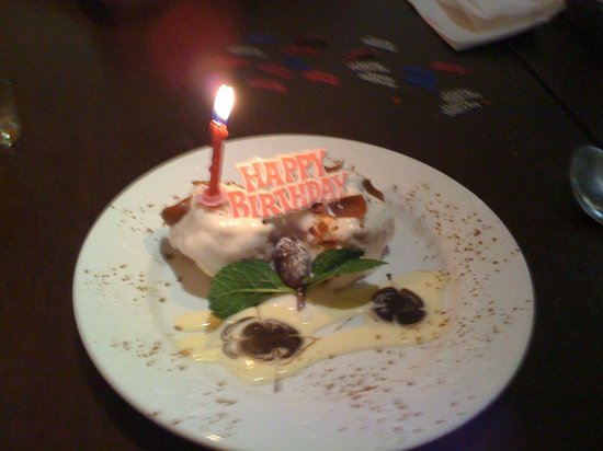 Shardana: White Chocolate Profiterols, jazzed up for the birthday girl