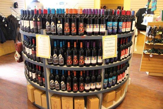 Auk Island Winery: Inside Display Rack