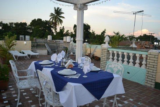 Table Pour Le Souper Sur La Terrasse Picture Of Hostal Jose Y