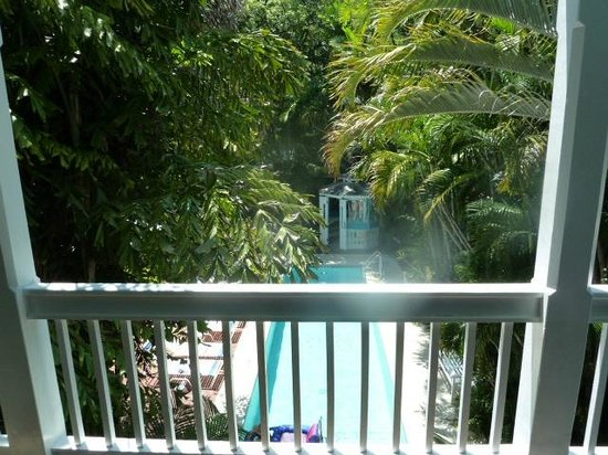 Ambrosia Key West Tropical Lodging: The Tree Top Two view of the pool and gargens