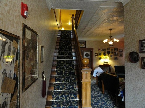 The Historic Elk Mountain Hotel: A welcoming stairway awaits