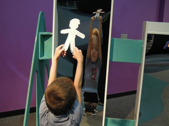 Sci-Quest Hands-on Science Center: Curved Mirror Reflection