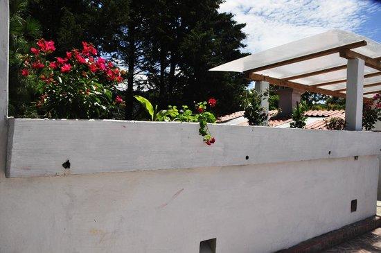 Planet Hostel: Terraza, con vista a la ciudad