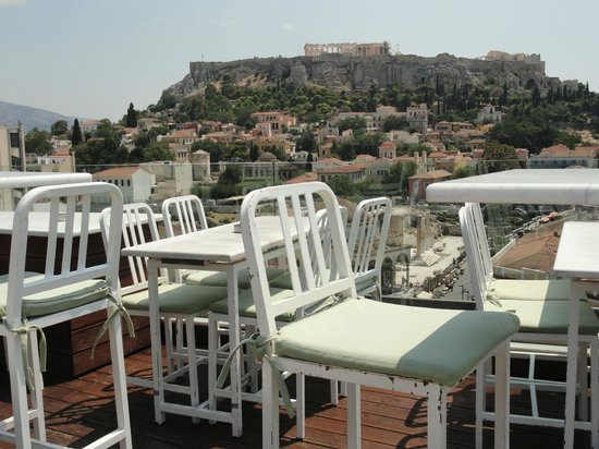 A for Athens: bar at roof top