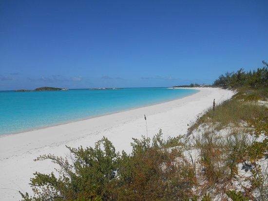 Breezy Hill Exuma Bahamas: spiaggia tropico del Cancro