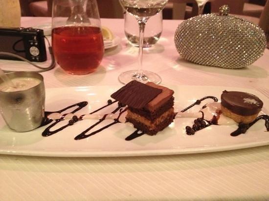 Charleston Grill : The mini milkshake was my favorite of all 3