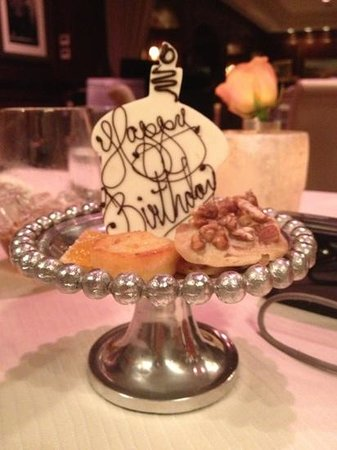 Charleston Grill: Fabulous ending to a wonderful birthday dinner!!!