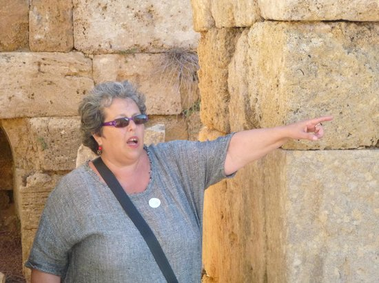 Judy at the Greek Ruins in Sicily - Picture of Divina ...