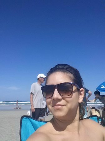 New Smyrna Town Beach: I never take lone selfies, I was THAT happy