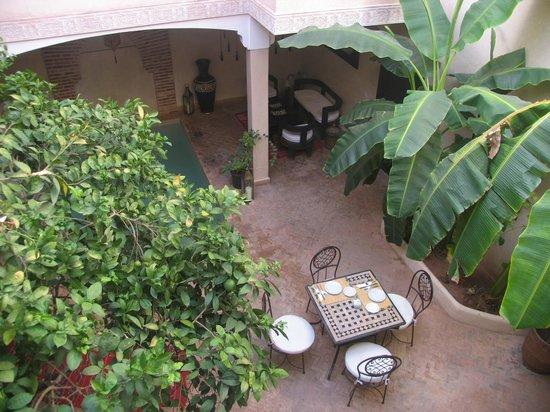 Riad l'Oiseau du Paradis : Vue de notre chambre