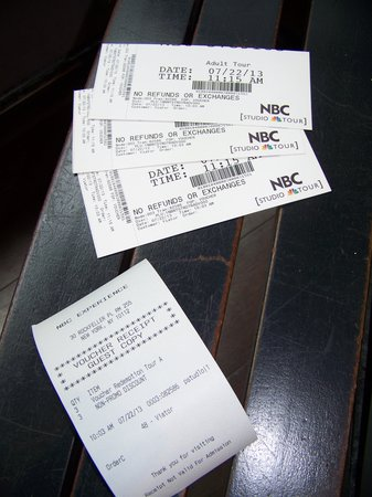The Tour at NBC Studios : We got our tickets for the tour!