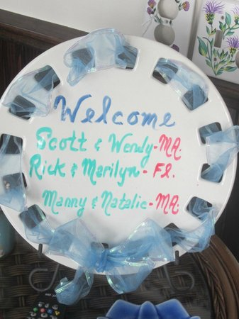 By The Sea Bed and Breakfast: Welcome plate