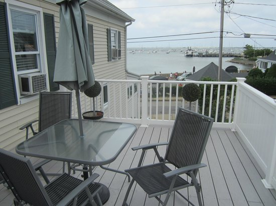 By The Sea Bed and Breakfast: Deck with Gov Bradford suite facing the harbor