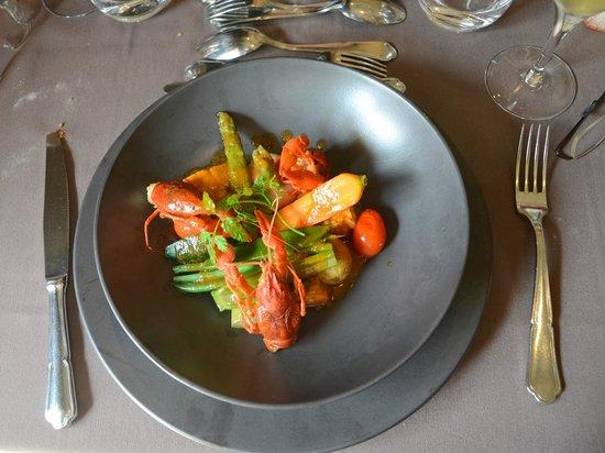 Restaurant Le Cavier : Homard poelé