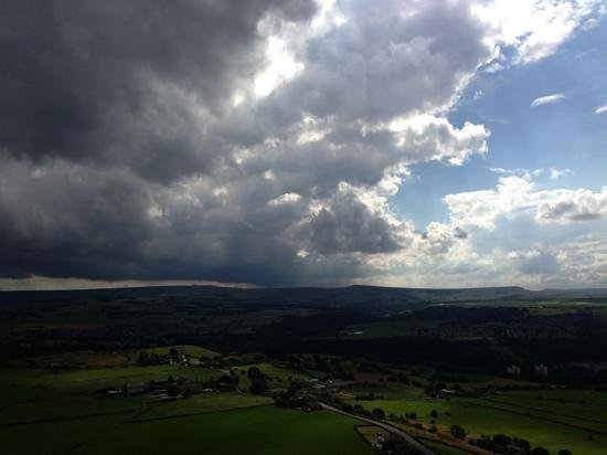 view from castle hill towards meltham