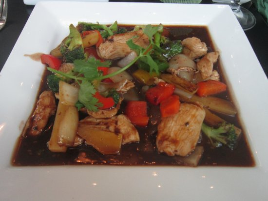 Bambus Restaurant : Lovely stir-fry with black bean sauce :)