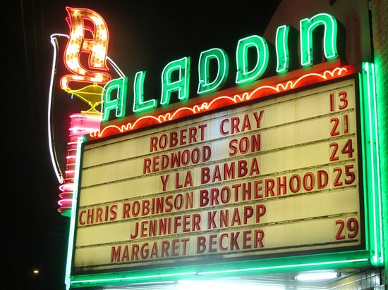 Aladdin Theater: Out front tonight Robert Cray