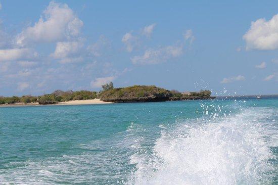 Azura Quilalea Private Island: Quilalea Islaned from speedboat