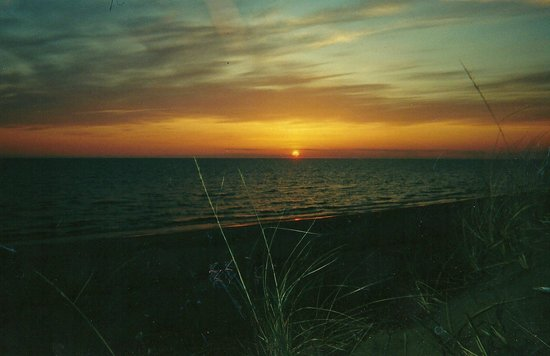 Pere Marquette Park: Sunset from past the dog park