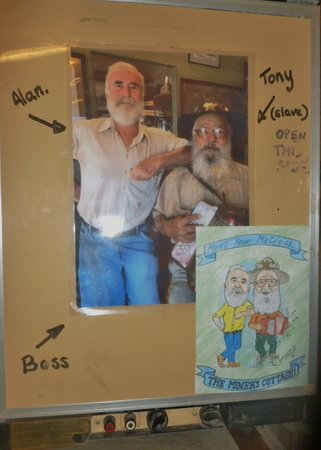 The Miner's Cottage: Tony, on the right, is a gem  - a real character!