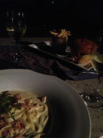 Sofitel Fiji Resort & Spa: Dinner -I had spag Carbonara twice, though it was only good the first time.