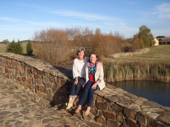 MONA Country Manor House: Sitting on the bridge with my sister Moi