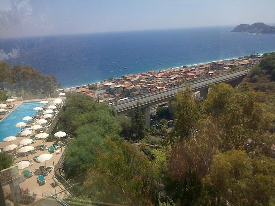 Hotel Antares: Lower pool from the railway