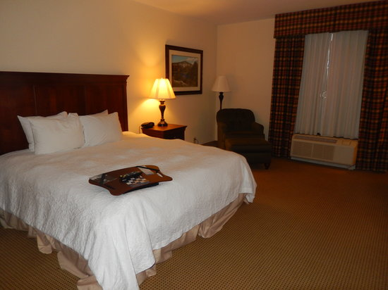 Hampton Inn & Suites Dobson: View of the King bed