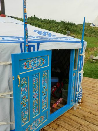 Cape Clear Campsite: Front of our yurt