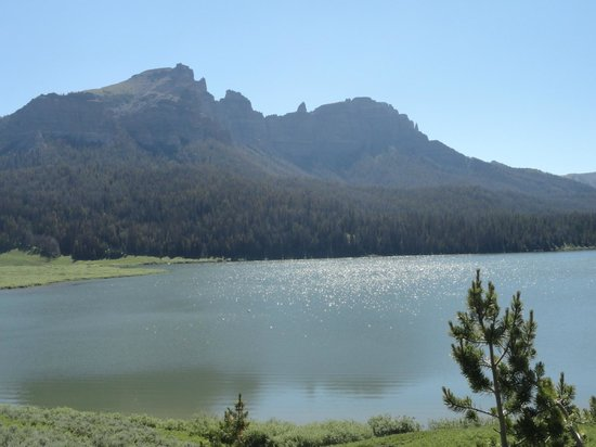 Brooks Lake Lodge and Spa: view from one of the hiking trails