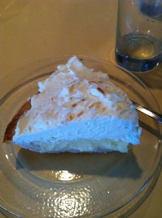 All Aboard Restaurant : coconut cream pie