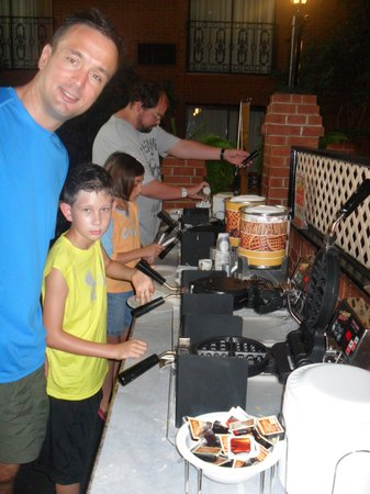 """Clifton Victoria Inn at the Falls: My son loved the """"Make your own waffles"""" at breakfast"""