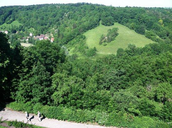 Burghotel: View from breakfast terrace