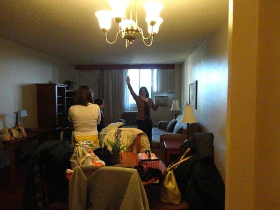 La Tour Belvedere: Vista da sala do apartamento