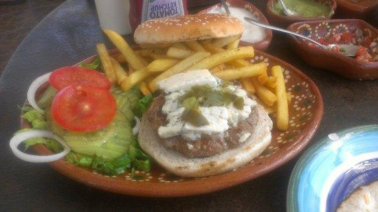 La Hach Restaurante-Cantina: Scrummish Blue Burger