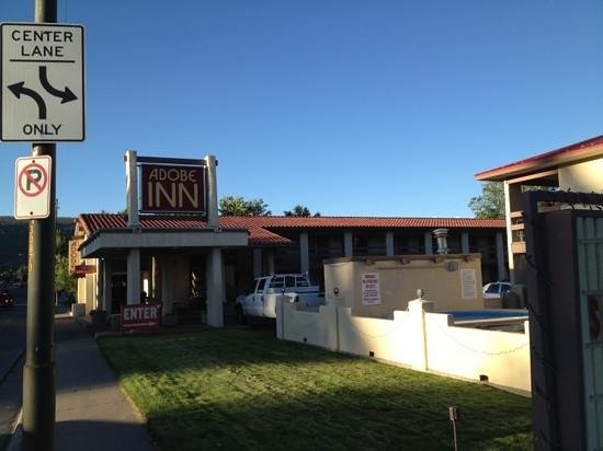 Adobe Inn: front of hotel. July 30 2013