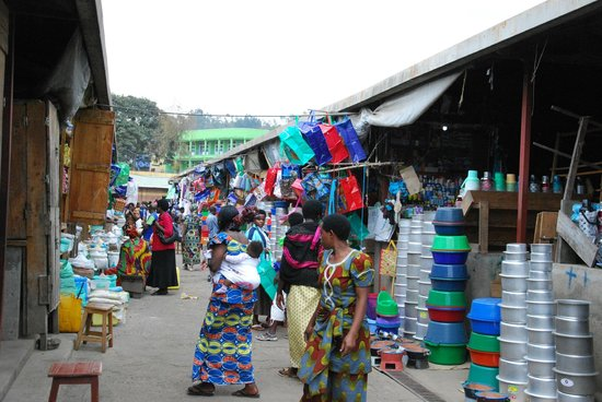 Virunga Lodge : local market in virunga region--private tour with our driver