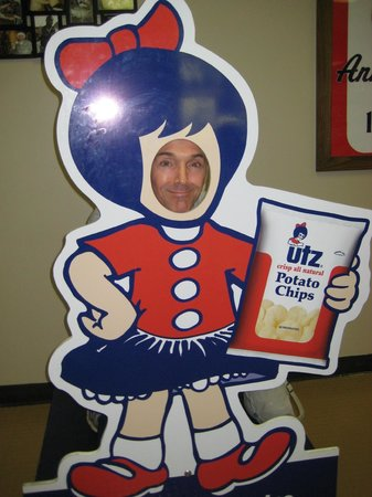 Utz Potato Chip Factory Tour: Main lobby of the Utz factory tour