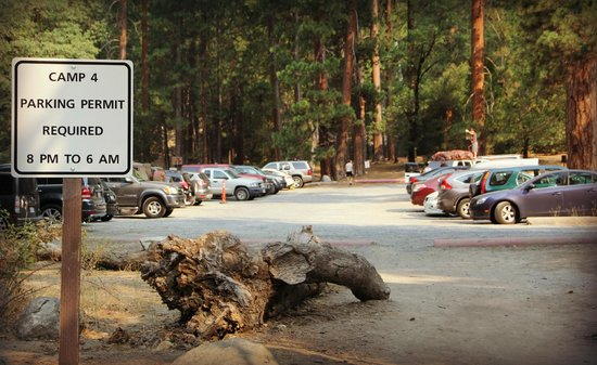 Camp 4 parking lot