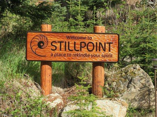 Stillpoint Lodge : Sign at Stillpoint