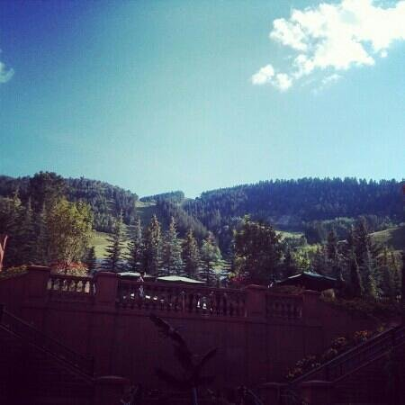 The St. Regis Aspen Resort: View outside the lounge. Breathtaking!