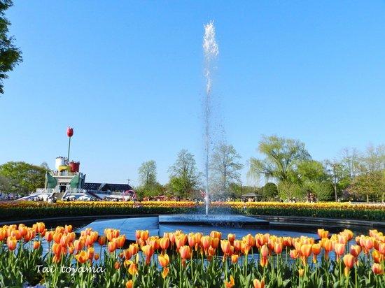 Tonami Tulip Gallery: ลานน้ำพุ