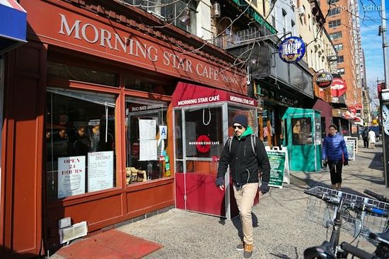 Morning Star Cafe: View from outside - MS