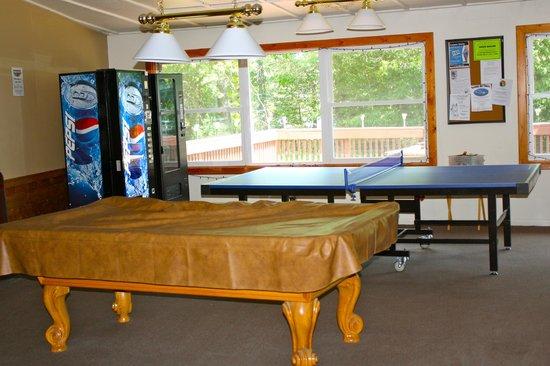 Hiawatha Lodge Inn: Game room off lobby
