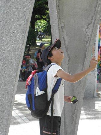 Schoolboy at Ground Zero Hiroshima